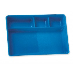 Blue Compartment tray with 4 compartments