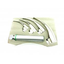 Macintosh Fiber Optic Laryngoscope Sets Set of 4 blades 1,2,3,4