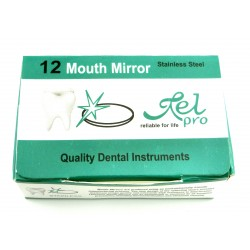 Dental Mouth Mirror No. 3 top plain surface Box of 12 Pieces